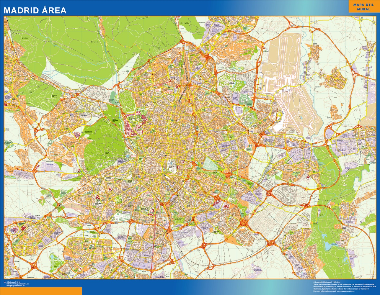 Madrid Mapa Area