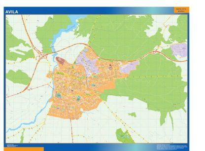 Mapa Avila callejero enmarcado plastificado