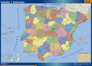 Mapa Espana enmarcado plastificado