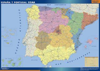 Mapa Espana Autonomias enmarcado plastificado