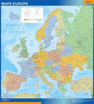 Mapa Europa Politico enmarcado plastificado