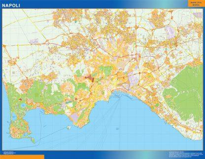 Mapa Napoli enmarcado plastificado
