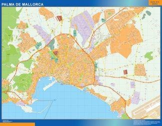 Mapa Palma Mallorca callejero enmarcado plastificado