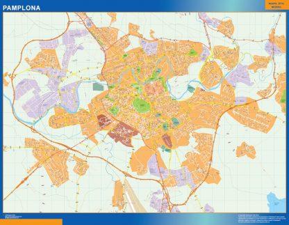 Mapa Pamplona callejero enmarcado plastificado