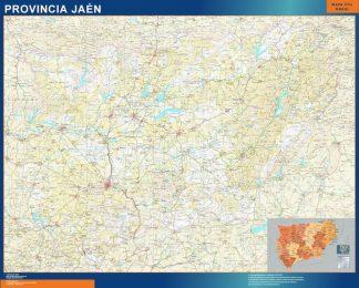 Mapa Provincia Jaen enmarcado plastificado