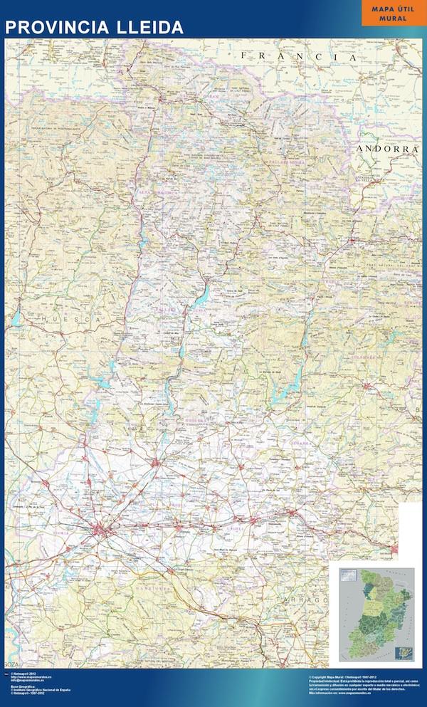 Mapa Provincia Lleida Magnetico Enmarcado Para Imanes Comprar