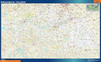 Mapa Provincia Toledo enmarcado plastificado