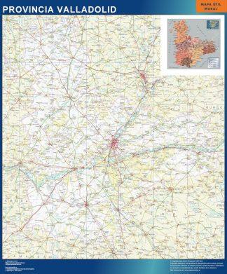 Mapa Provincia Valladolid enmarcado plastificado