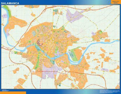 Mapa Salamanca callejero enmarcado plastificado