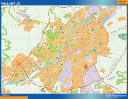 Mapa Valladolid callejero enmarcado plastificado