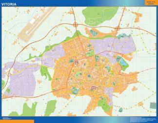 Mapa Vitoria callejero enmarcado plastificado