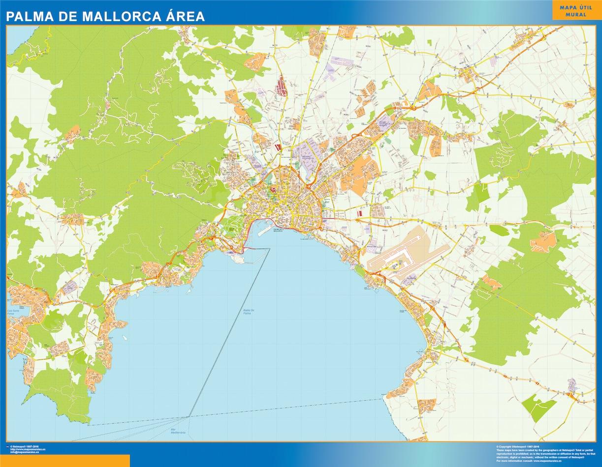 Mapa Carreteras Palma Mallorca Area Vinilo Adhesivo Comprar