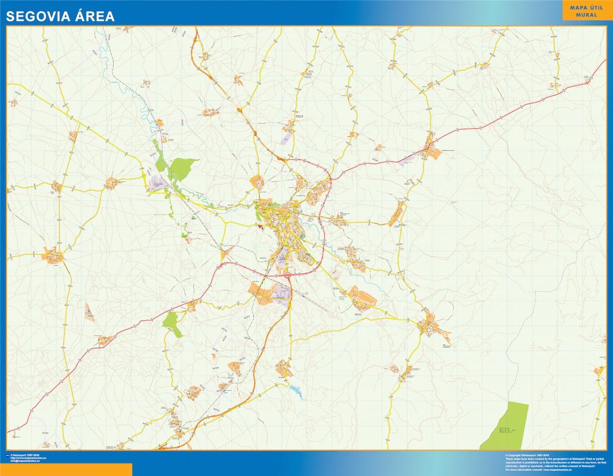 Mapa Carreteras Segovia Area Comprar Mapas Murales De Pared