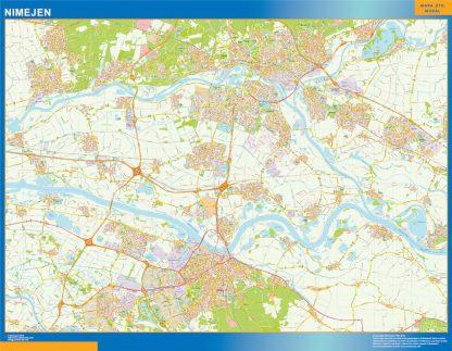 Mapa de Nimejen enmarcado plastificado