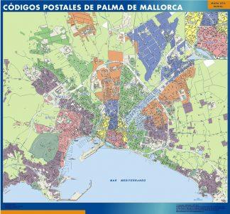 Palma de Mallorca códigos postales enmarcado plastificado