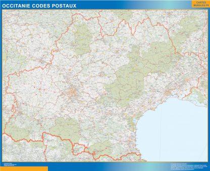 Región OccitanIe codigos postales enmarcado plastificado