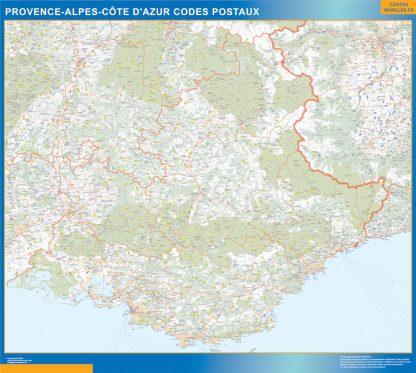 Región Provence-alpes cote azur codigos postales enmarcado plastificado