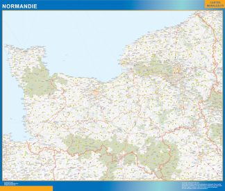 Region Normandie enmarcado plastificado