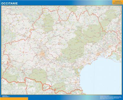 Region OccitanIe enmarcado plastificado
