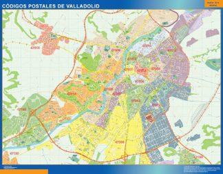 Valladolid códigos postales enmarcado plastificado